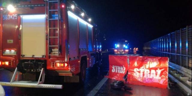Tragiczny wypadek na autostradzie A1. Nie żyją dwie młode osoby